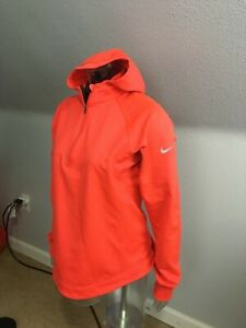 Nike Dri-Fit Long Sleeves 1/4 Zip  Hooded Sweatshirt Womens Sz L