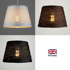 Modern Round Rattan / Wicker Style Ceiling Pendant Lamp Light Shades Lampshades