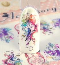 Watercolour Style Dream Catcher Nail Art Decals (Design #1)