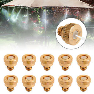 """10X Brass Misting Nozzles Water Mister Sprinkle for Cooling System 0.024""""  U8"""