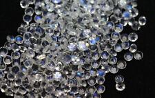 Natural Rainbow Moonstone 2mm Round Cut 50 Pieces Blue Fire Loose Gemstone