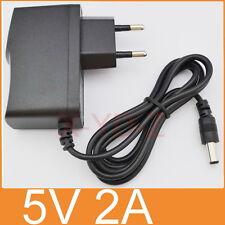 AC 100V-240V Adapter DC 5V 2A Switching power supply 1000mA EU 5.5mm x 2.1mm