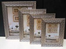 Contemporary SILVER leaf photo frame picture frame 4'6 5'7 6'8 8'10 NEW
