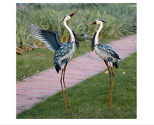 Outdoor Crane Heron Statue Sculpture Garden Bird Yard Art Decor Lawn Porch Patio