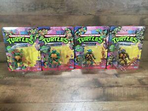 (4) 1988 Playmates TMNT Teenage Mutant Ninja Turtles Raphael Donatello READ DESC