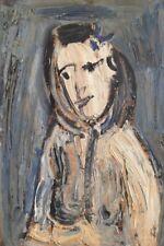 """Richard Mandin. """" Portrait""""  Huile sur carton,datée de 1966. v 163"""