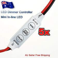AU 5x12V Mini LED Strip Light Dimmer Controller with On Off Switch for 3528 5050