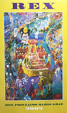 LeRoy Neiman MARDI GRAS PARADE Hand Signed Lithograph REX Not michalopoulos