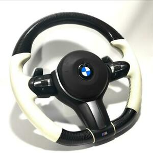 BMW X5, X6 M Steering wheel white leather