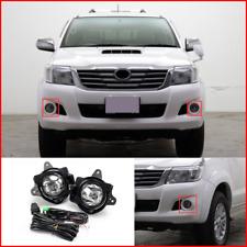 For Toyota Hilux Vigo 2014 2015 w/Bulb H16 Switch Wire Bracket Bumper Fog Lights