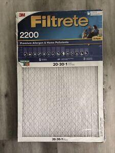 """3 Filtrete Healthy Living Elite Allergen Reduction Filter MPR 2200 20 X 30 X 1"""""""