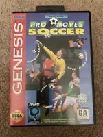 Pro Moves Soccer (Sega Genesis, 1994) ***UNTESTED***
