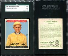 1933 GOUDEY SPORT KINGS #13 LAVERNE FATOR SGC 20 1.5 (057) GREAT EYE APPEAL