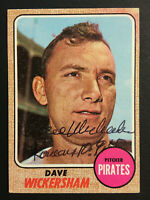 Dave Wickersham Pirates signed 1968 Topps baseball card #288 Auto Autograph 1