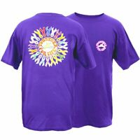 Peace Frogs Together For Life Ribbons Rainbow Purple Mens T Shirt Tee