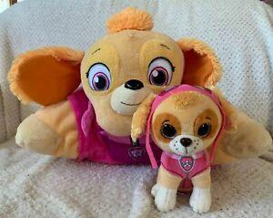 Paw Patrol SKYE Pillow Pet and 2017 TY Beanie Dog Puppy Plush Soft Toy Kids
