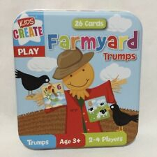 Farmyard Trumps Children Play Cards Holiday Fun Games Learning Numbers Kid Tin
