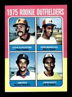1975 Topps# 616 Rookie Outfielders Jim Rice Manual Augustine EX-MINT *OBGcards*