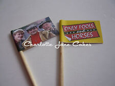 20 CUPCAKE FLAGS / TOPPER - ONLY FOOLS AND HORSES