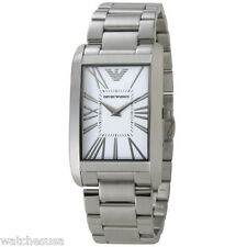 Emporio Armani Super Slim White Dial Men's Stainless Steel watch #AR2036