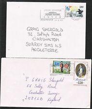 Francia 1985/1994. 2 copre per Regno Unito. SAN VALENTINO / fraternità / Sbarco degli alleati.