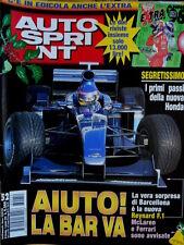 Autosprint 52 1998 Primi passi nuova Honda. A Barcellona nuova Reynard F1 SC.57