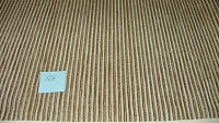 Brown Beige Stripe Print Chenille Upholstery Fabric Remnant  F1410