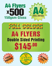 500 A4 Double Sided Flyer Printing on 150gsm Gloss