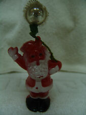 """VINTAGE BLOW MOLD LITTLE SANTA FOR PUTZ VILLAGE 5""""TALL VERY NICE FREE SHIPPING"""