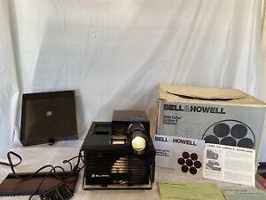 Bell & Howell 35mm slide projector CUBE Model AF70 Vintage. Works Great W/box