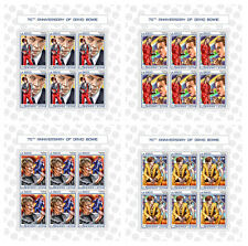 More details for sierra leone 2017 mnh david bowie 70th anniv 4x 6v m/s celebrities music stamps
