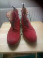 Oliver Spencer Red Suede Brogue Boots Size 9