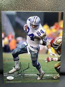Jay Novacek Autograph 8x10 Photo Dallas Cowboys Signed JSA COA