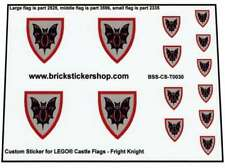 Precut Custom Replacement Sticker voor Lego Fright Knight Flags