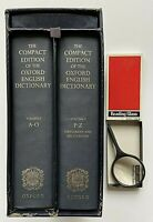 Compact Edition Oxford English Dictionary 2 Vol Slipcase Magnifying Glass