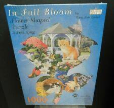 Spilsbury 1000 Piece In Full Bloom Mary Ann Lasher Shaped Flower 5045 SEALED