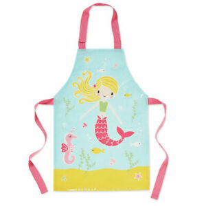 Kids Childrens Mermaid Apron Childrens Cooking Baking Painting Messy Play Aprons