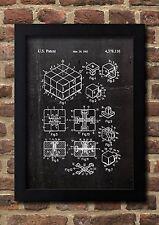 Rubik CUBE Zauberwürfel 1983 Patent Fine Art Print Galeriequalität A4. Art 01