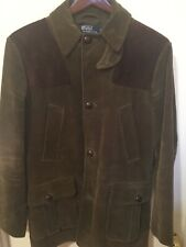 Polo Ralph Lauren Corduroy Suede Hunting Shooting Jacket Coat Size M