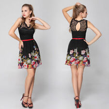 Regular Size Floral Polyester Empire Waist Dresses for Women
