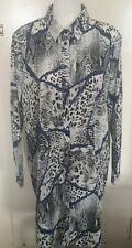 Women's uk 18 animal print Shirt Dress boohoo black whìte blue