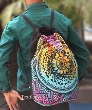 Indian Backpack Bag Mandala Multipurpose Cotton Unisex With Adjustable Straps