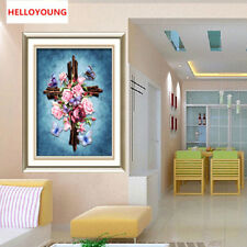 DIY 5D Diamond Mosaic Diamond Embroidery Jesus Cross Diamond Painting Stitch