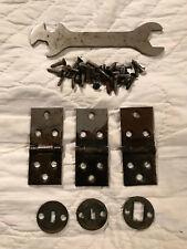 Salvaged Treadle Sewing Machine Hinges, Screws, Parts & Tool