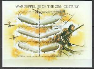 G1528 GRENADA WAR AVIATION ZEPPELINS OF THE 20TH CENTURY 1KB MNH