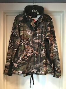 Under Armour Women's 1/2 Zip Forest Camo Fleece Pullover Large 1297415 943 NWT