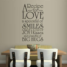 Wall Vinyl Sticker Bedroom Design Words Sign Quote Arecipe of Love (Z856)