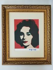 ANDY WARHOL ORIGINAL 1984 SIGNED LIZ TAYLOR PRINT MATTED TO BE FRAMED 11 X 14
