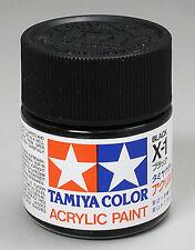 Tamiya X1 Black 3/4 oz Large Acrylic Paint Jar 81001 TAM81001