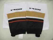 "Tron SK200 Dry Fit Mesh Ice Hockey Shin Socks Anaheim Ducks Away Color White 30"""